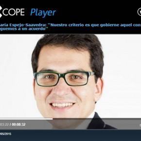 José María Espejo-Saavedra: ''Nuestro criterio es que gobierne aquel con el que lleguemos a un acuerdo''