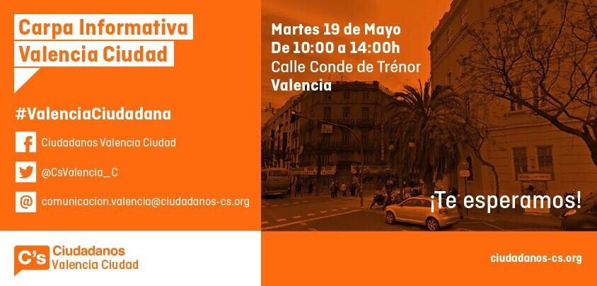 Carpa informativa ciudadanos martes 19 de mayo en la calle conde de tr nor - Casa de los caramelos valencia ...