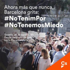 Ciudadanos asistirá a la manifestación en Barcelona para mostrar unidad política frente al terrorismo